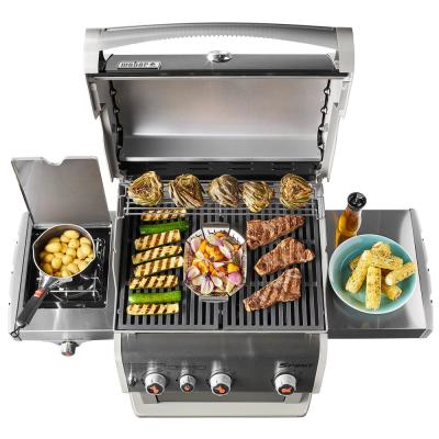 Spirit E-330 3-Burner Liquid Propane Gas Grill in Black with Built-In Thermometer