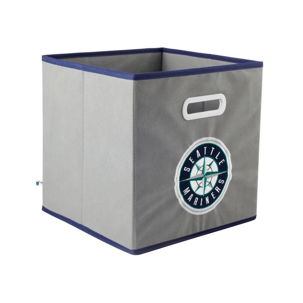 MyOwnersBox MLB STOREITS Seattle Mariners 10-1/2 in. x 10-1/2 in. x 11 in. Grey Fabric Storage Drawer