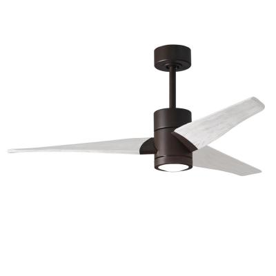 Super Janet 52 in. Integrated LED Textured Bronze Ceiling Fan with Light Kit