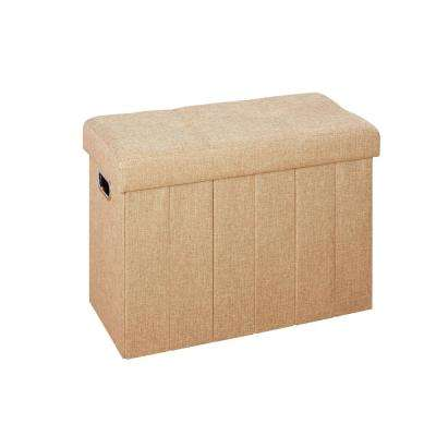 Collapsible 25 in. x 12 in. Bench/Hamper Ottoman