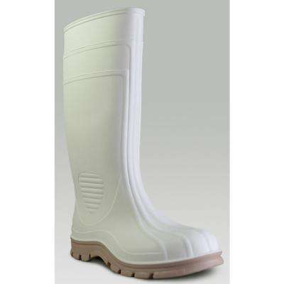 Men's White Economy Jumbo Shrimp PVC Boot Size 12