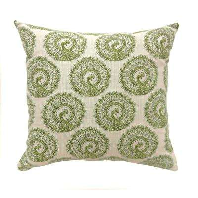 Fifi 22 in. Contemporary Standard Throw Pillow in Green