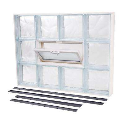 48.875 in. x 24.375 in. NailUp2 Vented Wave Pattern Glass Block Window