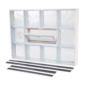 glass block window vent replacement tafco windows 13875 in 31625 nailup2 vented wave pattern glass block windownu2272vw the home depot