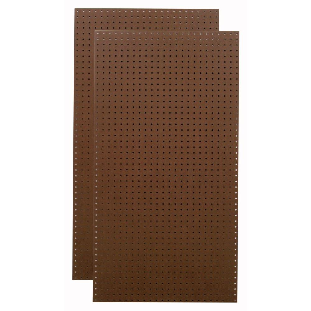 Triton 1/4 in. x 1/8 in. Heavy Duty Brown Pegboard Wall Organizer (Set of 2)