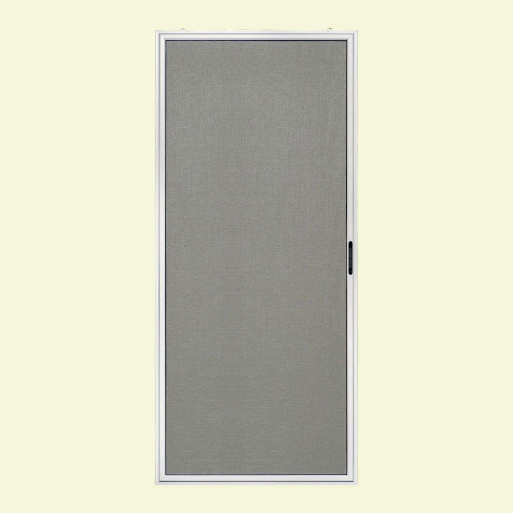 JELD-WEN 36 in. x 80 in. Premium Atlantic White Right-Hand Aluminum Sliding Screen Door