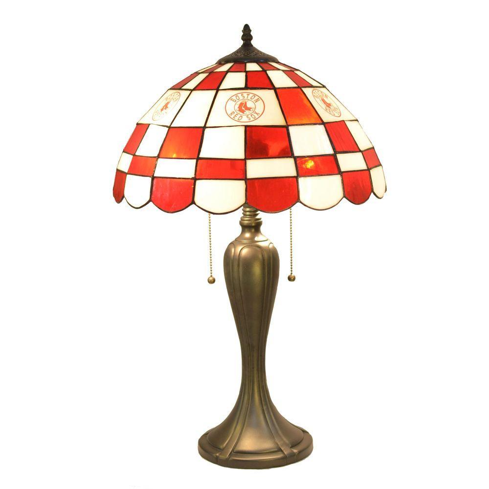 IMPERIAL 24 in. Tiffany Boston Red Sox Desk Lamp