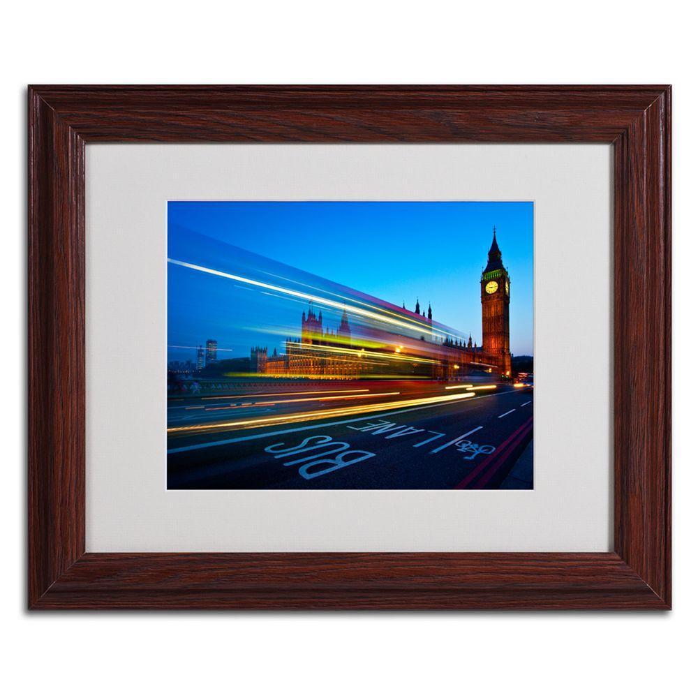 Trademark Fine Art 11 in. x 14 in. London, Big Ben II Matted Framed Art