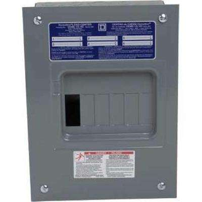 Homeline 100 Amp 6-Space 12-Circuit Indoor Flush Mount Main Lug Load Center with Cover No Door