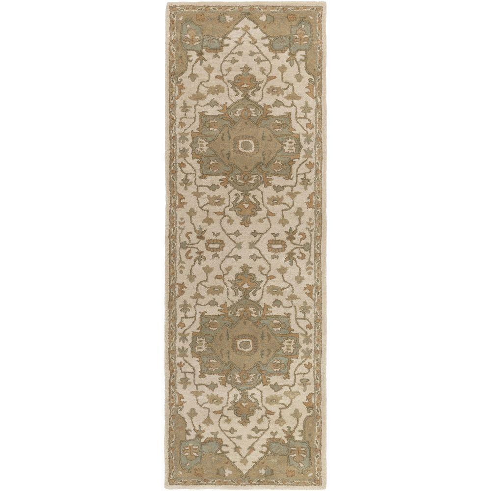 Artistic Weavers Demetrios Olive 3 Ft X 12 Ft Indoor