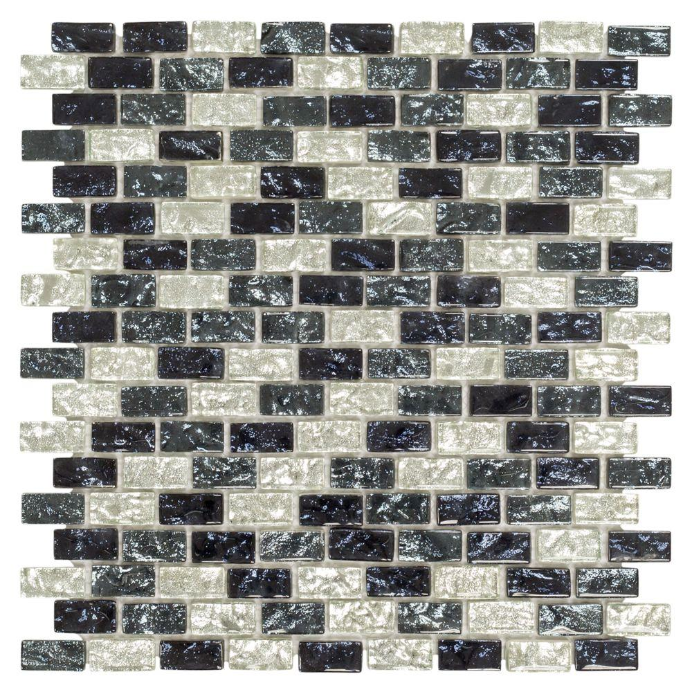 Jeffrey Court Sable Evening 12 in. x 12 in. x 8 mm Glass and Stone ...
