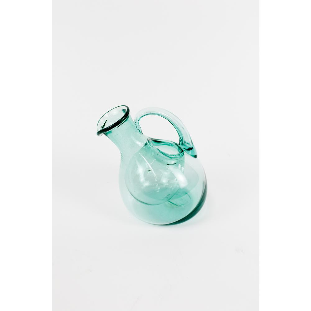 48 oz. Tilted Clear Glass Wine Decanter with Ice Pocket