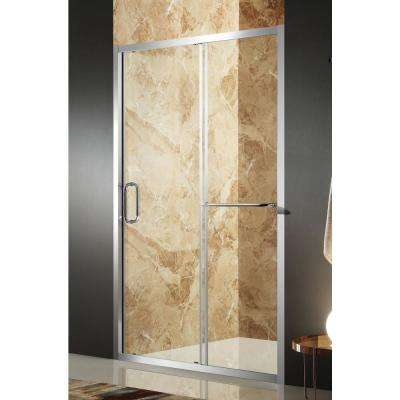 Regent 48 in. x 72 in. Framed Sliding Shower Door in Polished Chrome with Handle