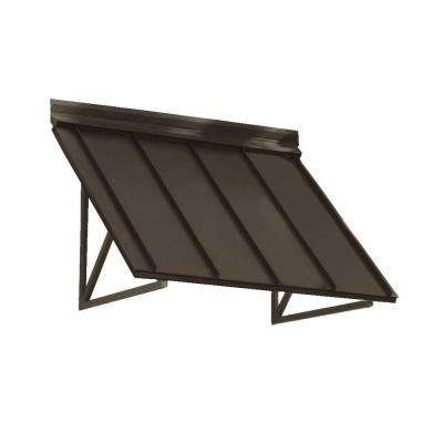 4.6 ft. Houstonian Metal Standing Seam Awning (56 in. W x 24 in. H x 24 in. D) in Bronze
