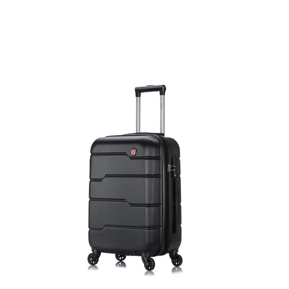 Rodez 20 in. Black Lightweight Hardside Spinner Carry-on
