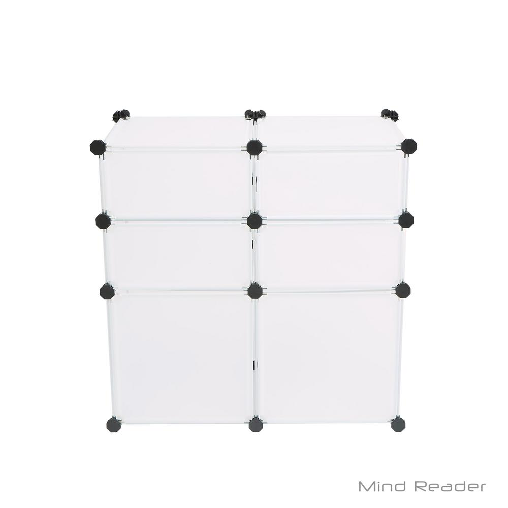 Mind Reader 25.79 in. W x 25.98 in. H White Stackable 6-Cube Organizer