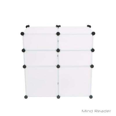 25.79 in. W x 25.98 in. H White Stackable 6-Cube Organizer