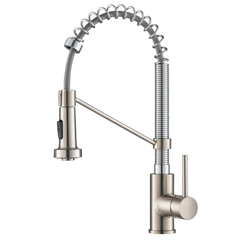 KRAUS Bolden Single-Handle Pull-Down Sprayer Kitchen Faucet with ...