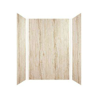 Expressions 36 in. x 48 in. x 72 in. 3-Piece Easy Up Adhesive Alcove Shower Wall Surround in Sorento