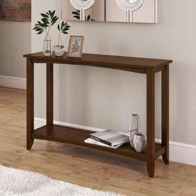 Cambridge Cappuccino 2-Tiered Console Table