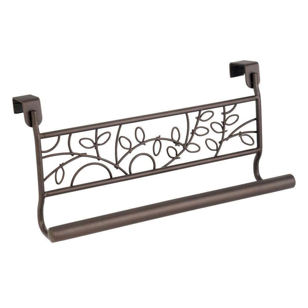 Interdesign Twigz 9 In Over The Cabinet Towel Bar In Bronze 98881