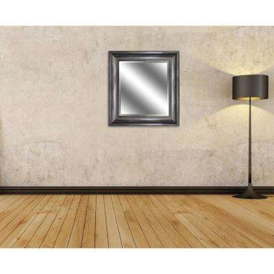 27 in. x 23 in. Bevel Style Framed Mirror in Ember Bronze Woodgrain Finish