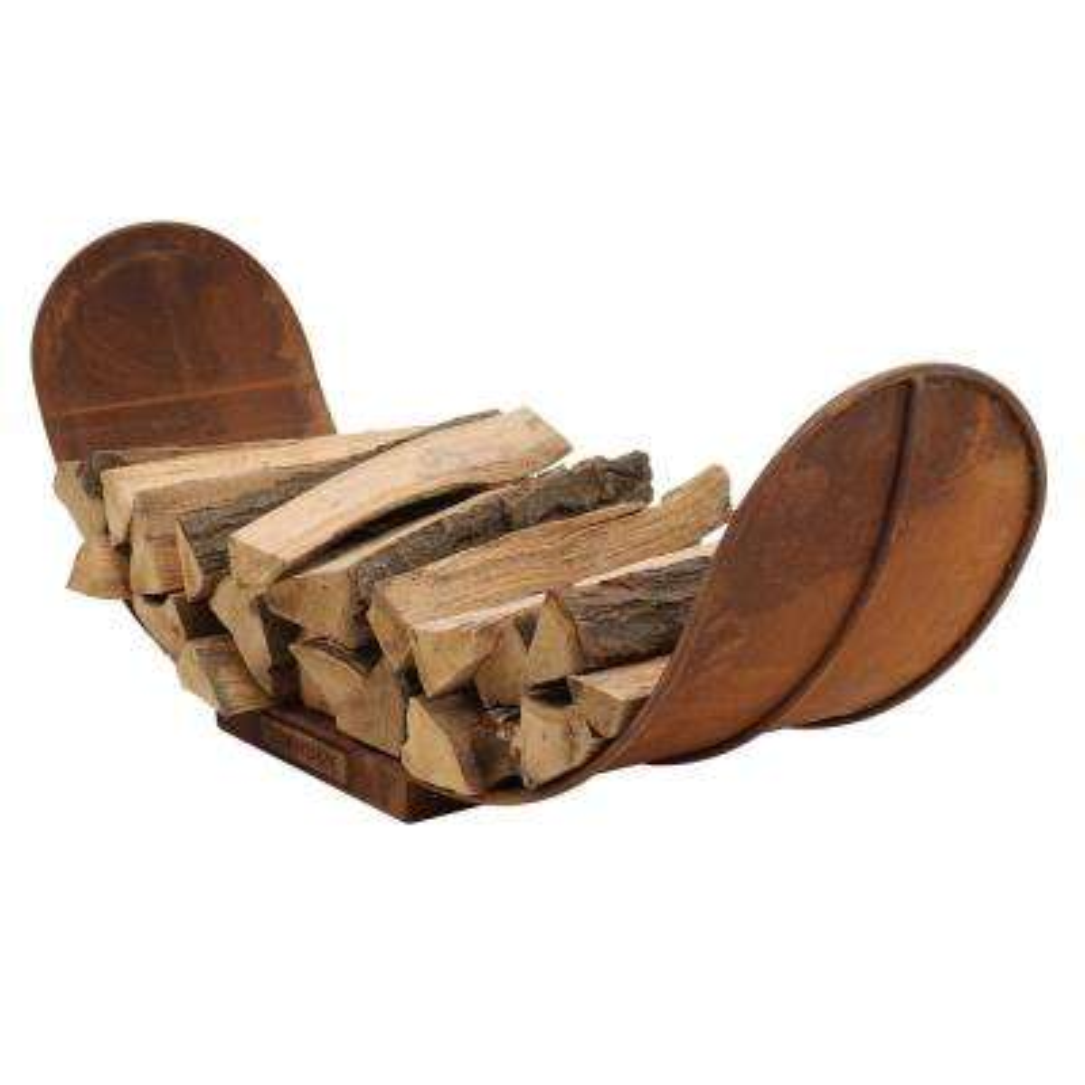 4 ft. Outdoor Rustic Firewood Storage Log Rack