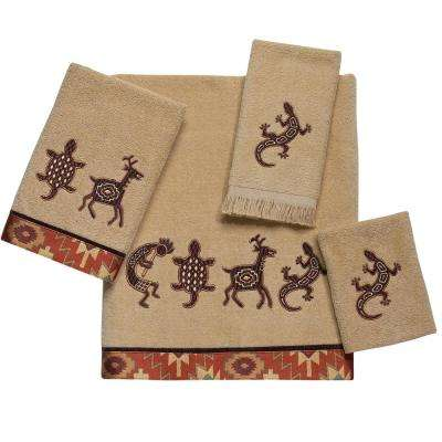Segovia 4-Piece Bath Towel Set in Rattan