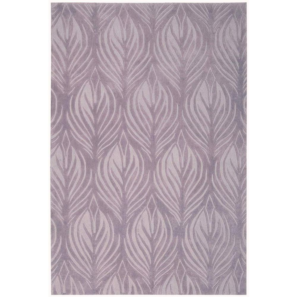 Nourison Island Palms Lavender 3 ft. 6 in. x 5 ft. 6 in. Area Rug