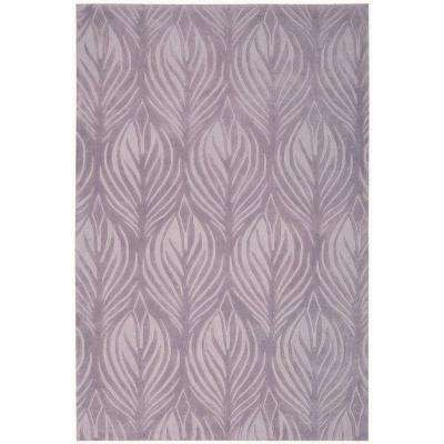 Island Palms Lavender 4 ft. x 6 ft. Area Rug
