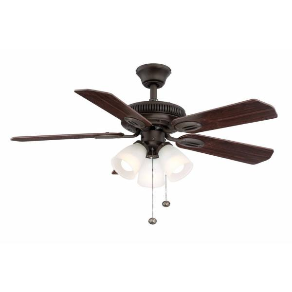Glendale 42 in. LED Indoor Oil-Rubbed Bronze Ceiling Fan with Light Kit
