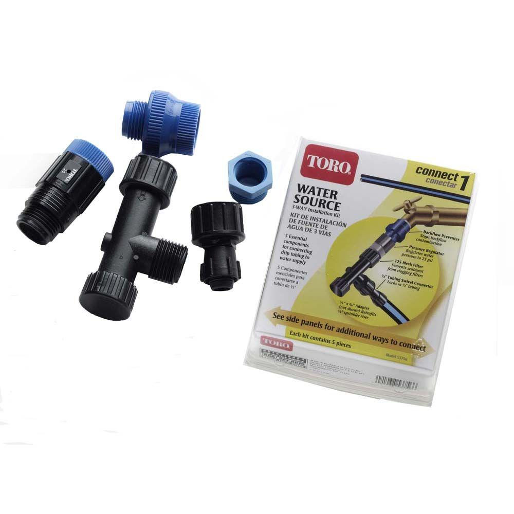 null Blue Stripe Drip Water Source Installation Kit