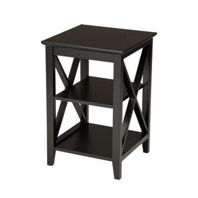 23.62 in. H Espresso Color X-Frame End Table