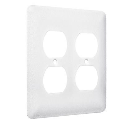 White 2-Gang 2 Duplex Wall Plate (20-Pack)