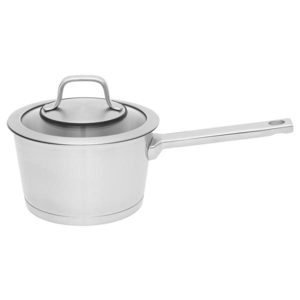 Essentials Manhattan 1.8 qt. Stainless Steel Sauce Pan with Glass Lid