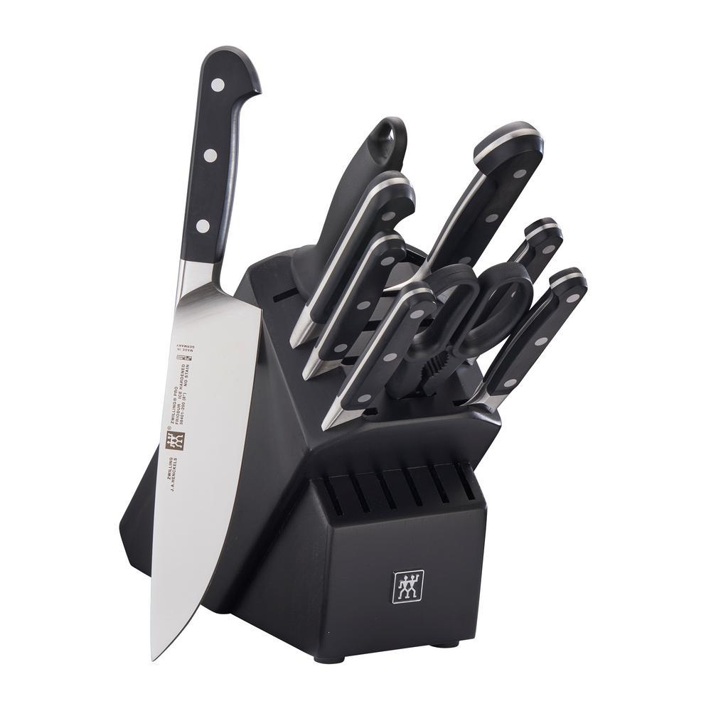 Pro 10-Piece Black Knife Block Set
