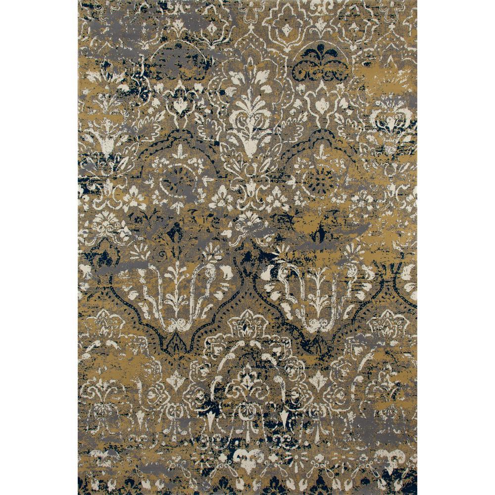 Art Carpet Bastille Fretwork Light Yellow 7 Ft X 10 Ft