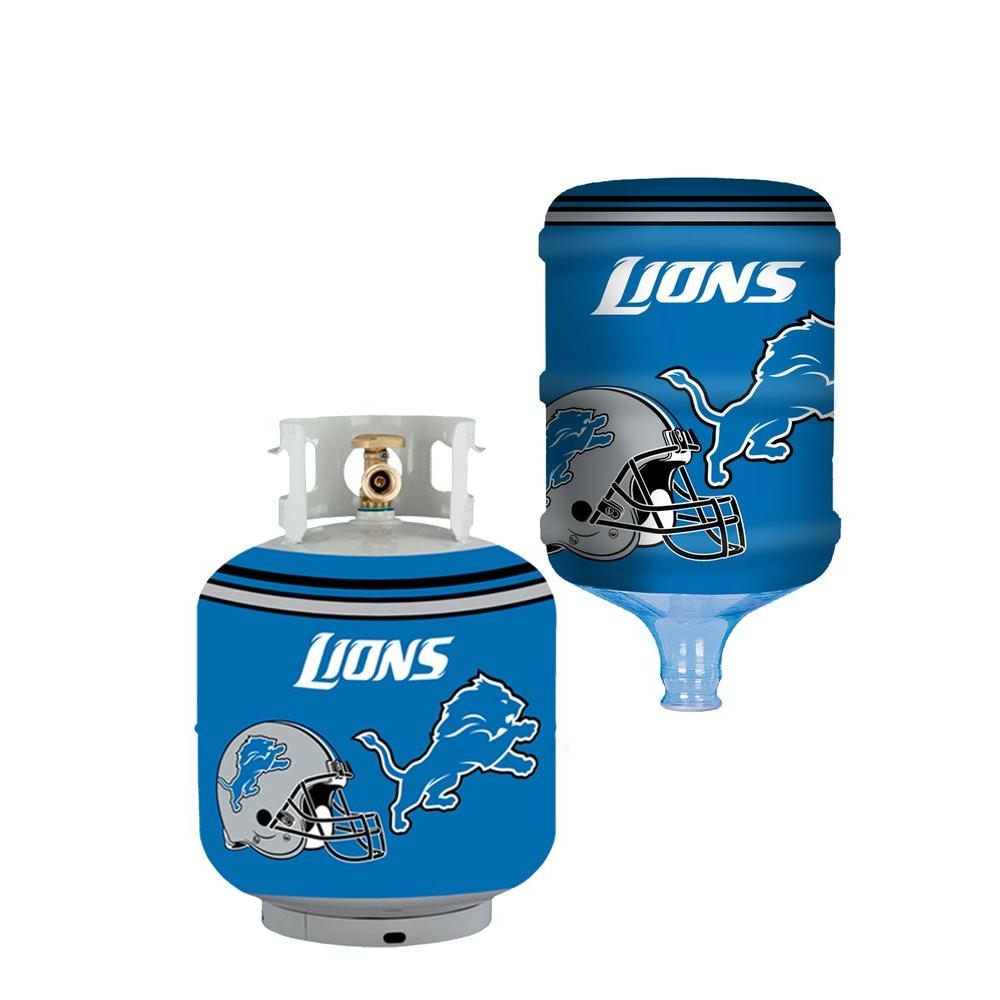 Bottle Skinz Detroit Lions Propane Tank Cover 5 Gal Water