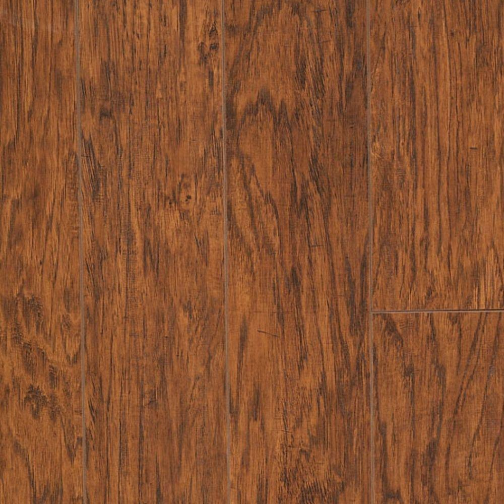 Hampton Bay Cleburne Hickory 8 mm Thick x 5.39 in. Width x 47.6 in. Length Laminate Flooring (453.42 sq. ft. / pallet)