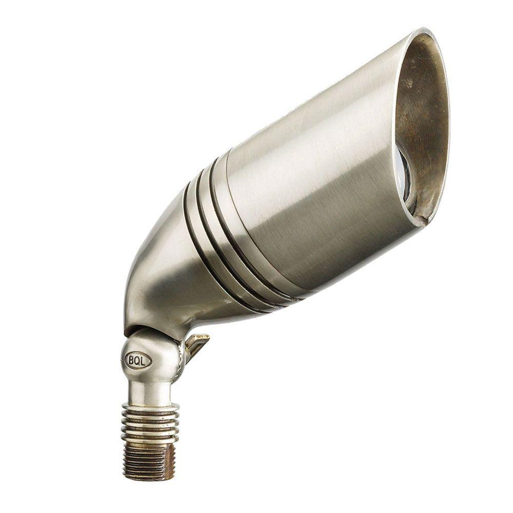 Best Quality Lighting 1 Light Stainless Steel Die Cast Brass Up Light Cli Bqlv07slv The Home Depot