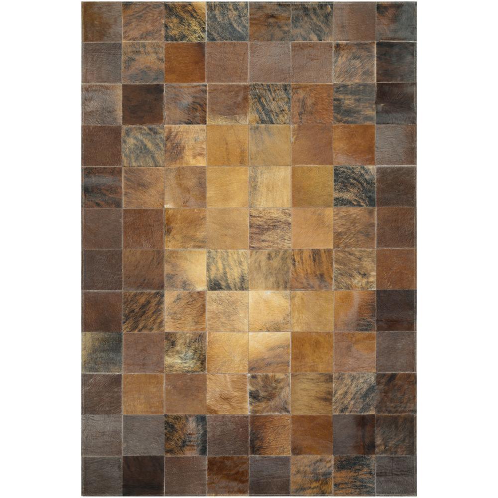 Chalet Tile Brown 2 ft. x 4 ft. Area Rug