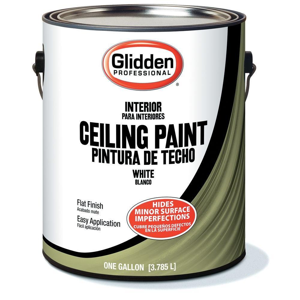 Glidden Ceiling 1 Gal Flat Interior Paint
