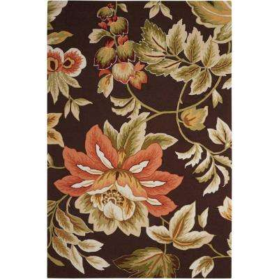 French Country Chocolate 8 ft. x 11 ft. Area Rug