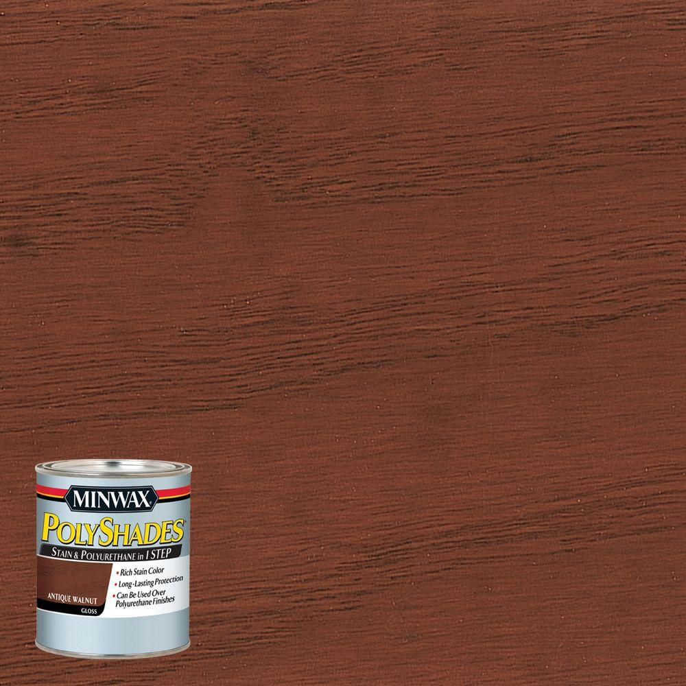 8 oz. PolyShades Antique Walnut Gloss 1-Step Stain and Polyurethane (4-Pack)