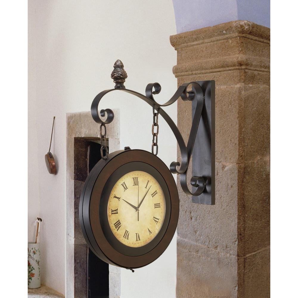 null doublesided suspended wall clock