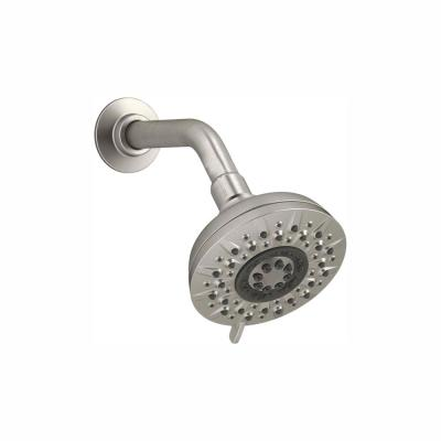 Radiate 5-Spray 4.7 in. Single Wall Mount Fixed Rain Shower Head in Vibrant Brushed Nickel