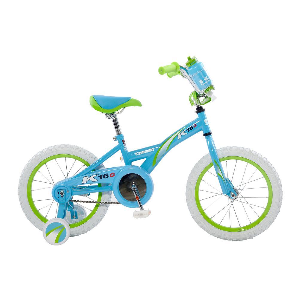 Monocoque Kid's Bike, 16 in. Wheels, 11 in. Frame, Girl's Bike in Blue