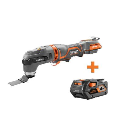 18-Volt OCTANE Cordless Brushless JobMax Multi-Tool with Tool-Free Head with 4.0 Ah Lithium-Ion Battery
