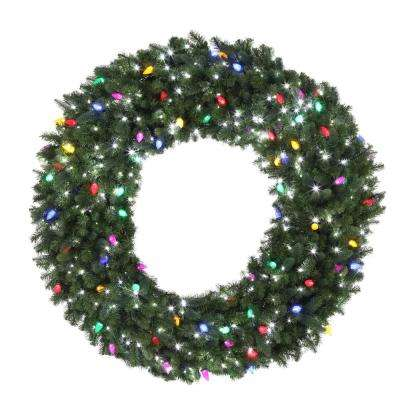 led pre lit artificial christmas wreath with micro style pure white - Pre Lit Outdoor Christmas Wreaths