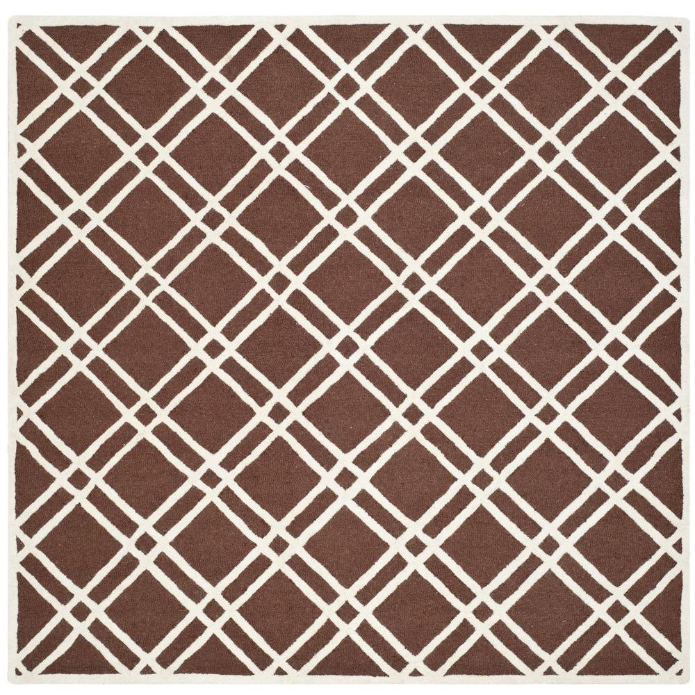 Cambridge Dark Brown/Ivory 8 ft. x 8 ft. Square Area Rug